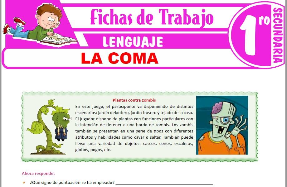 Modelos de la Ficha de La coma para Primero de Secundaria