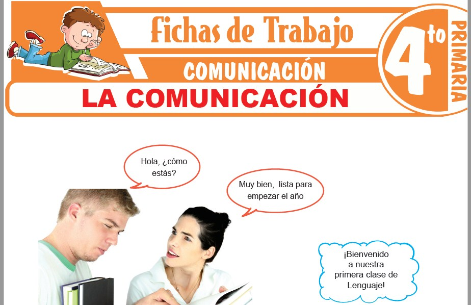 Modelos de la Ficha de La comunicación para Cuarto de Primaria