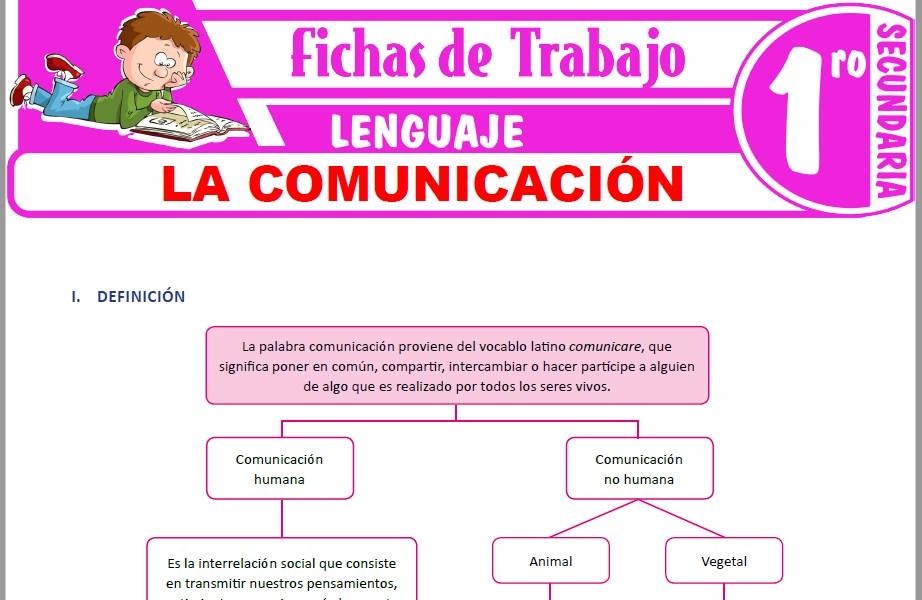 Modelos de la Ficha de La comunicación para Primero de Secundaria