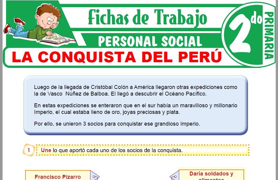 Modelos de la Ficha de La conquista del Perú para Segundo de Primaria