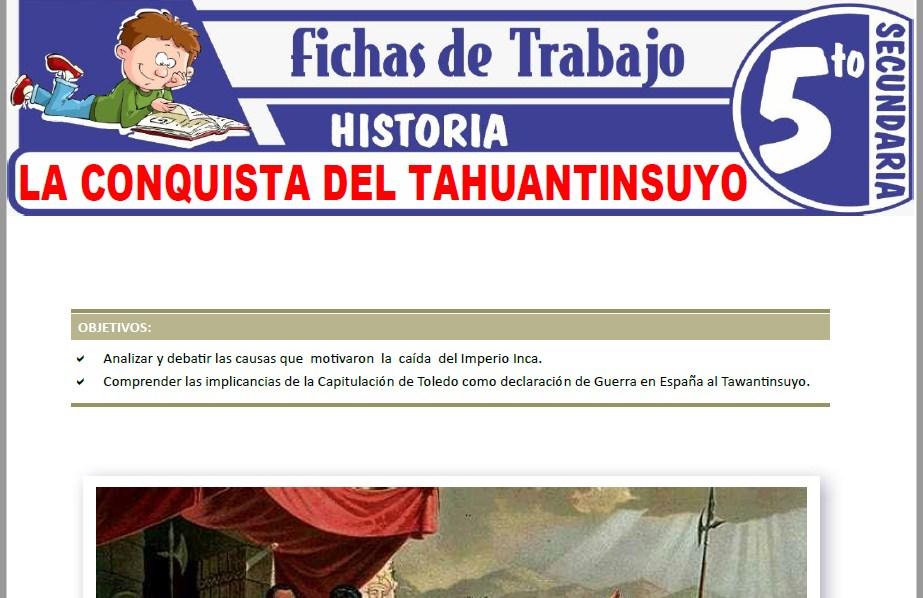 Modelos de la Ficha de La conquista del Tahuantinsuyo para Quinto de Secundaria
