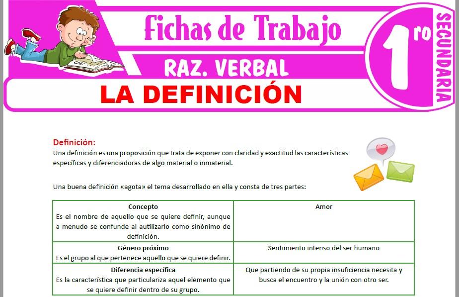 Modelos de la Ficha de La definición para Primero de Secundaria