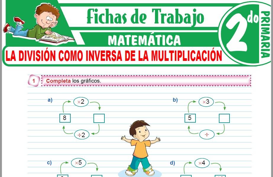 Modelos de la Ficha de La división como inversa de la multiplicación para Segundo de Primaria