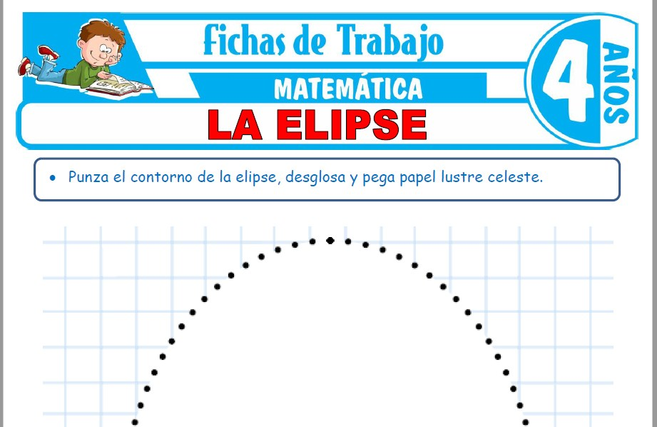 Modelos de la Ficha de La elipse para Niños de Cuatro Años