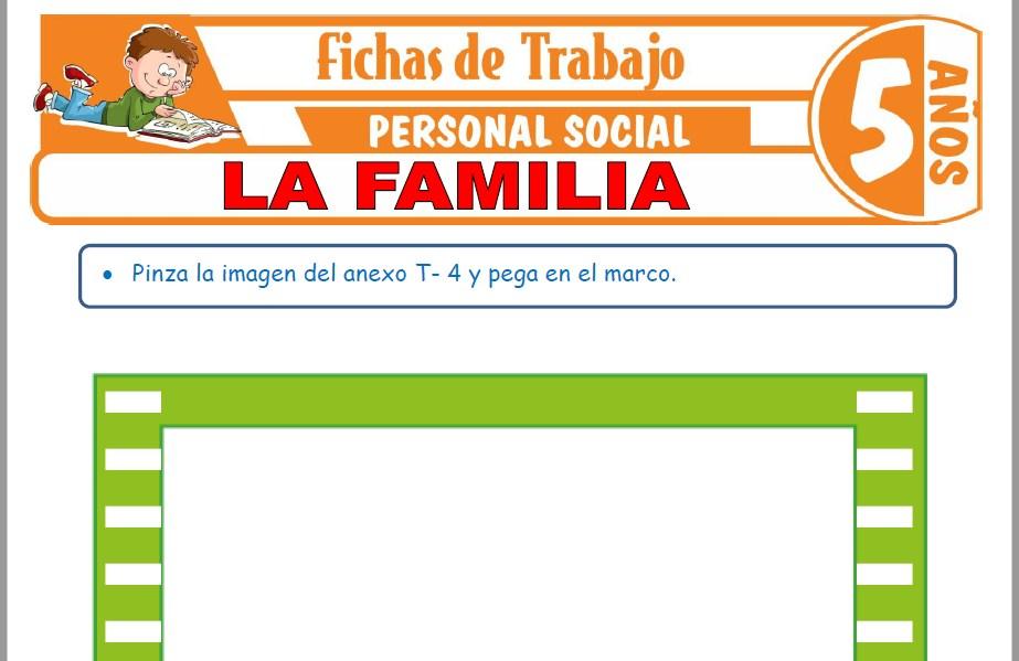 Modelos de la Ficha de La familia para Niños de Cinco Años