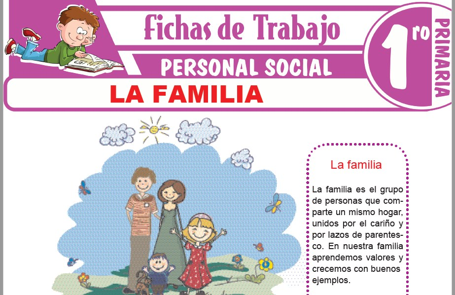 Modelos de la Ficha de La familia para Primero de Primaria
