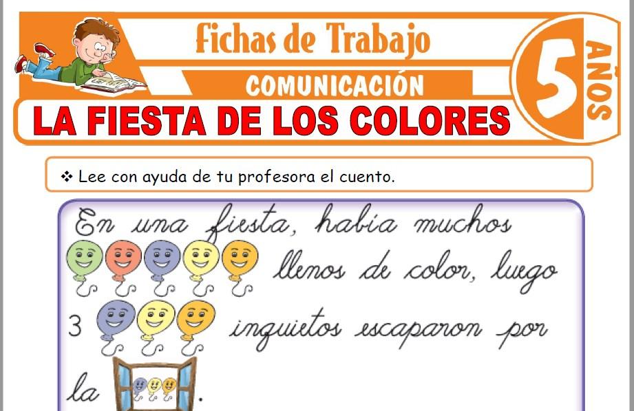 Modelos de la Ficha de La fiesta de los colores para Niños de Cinco Años