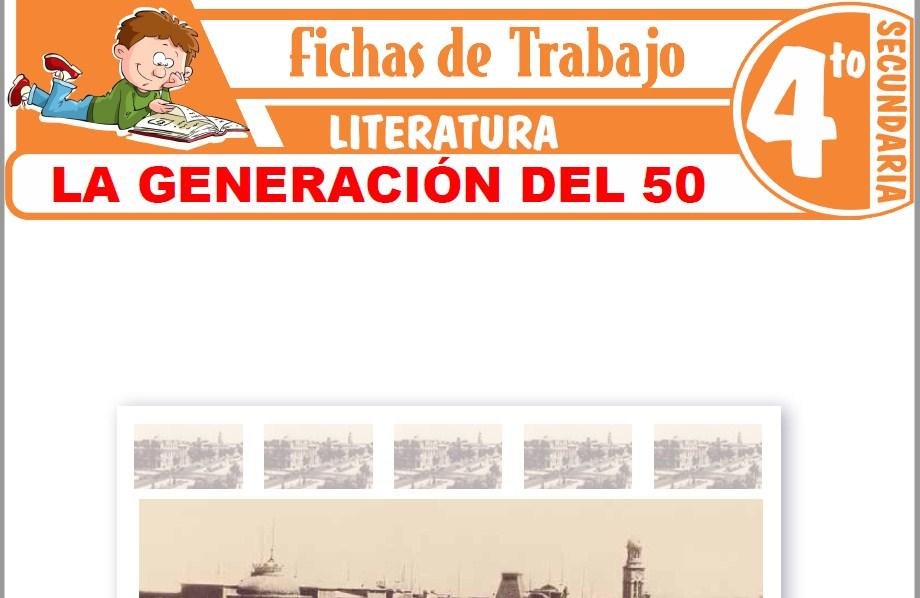 Modelos de la Ficha de La generación del 50 para Cuarto de Secundaria