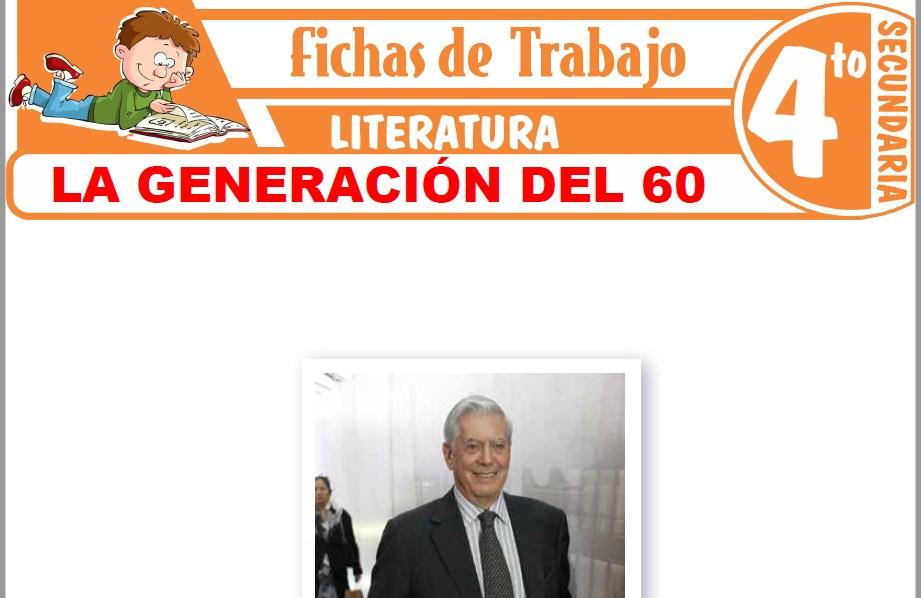 Modelos de la Ficha de La generación del 60 para Cuarto de Secundaria