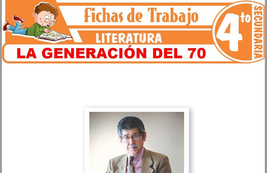 Modelos de la Ficha de La generación del 70 para Cuarto de Secundaria
