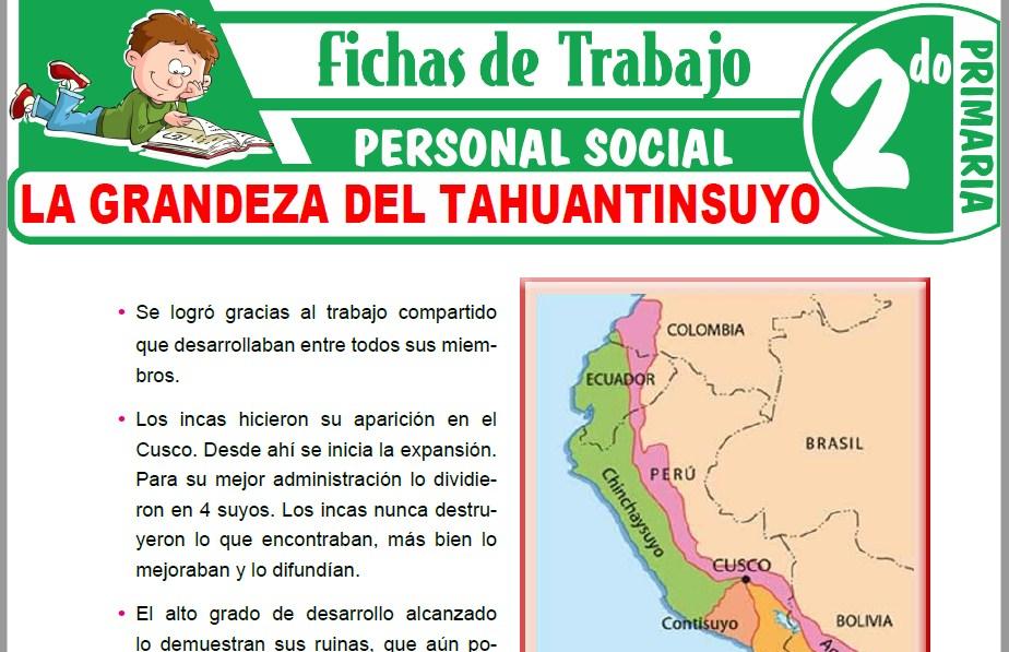 Modelos de la Ficha de La grandeza del Tahuantinsuyo para Segundo de Primaria