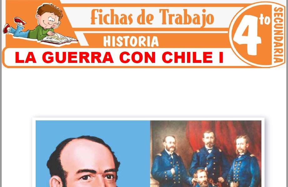 Modelos de la Ficha de La guerra con Chile I para Cuarto de Secundaria