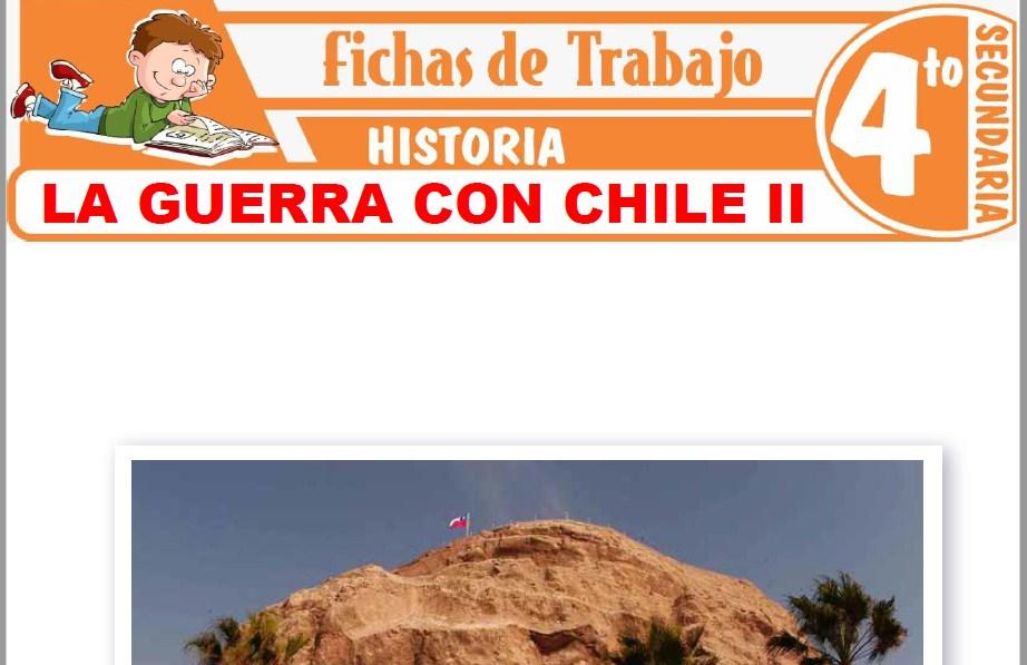 Modelos de la Ficha de La guerra con Chile II para Cuarto de Secundaria