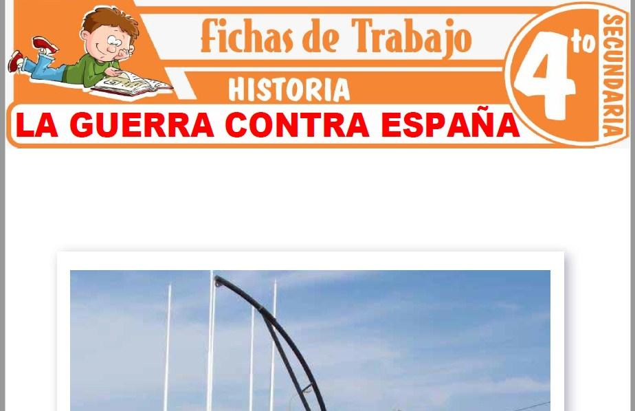 Modelos de la Ficha de La guerra contra España para Cuarto de Secundaria