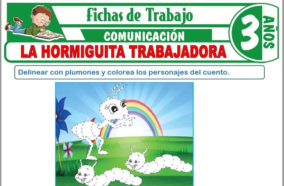 Modelos de la Ficha de La hormiguita trabajadora para Niños de Tres Años