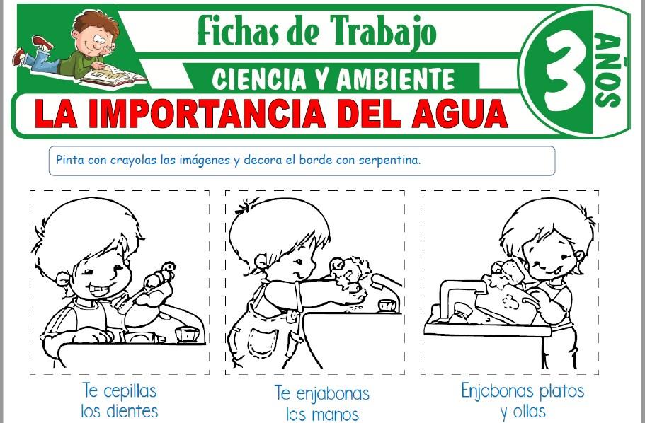 Modelos de la Ficha de La importancia del agua para Niños de Tres Años