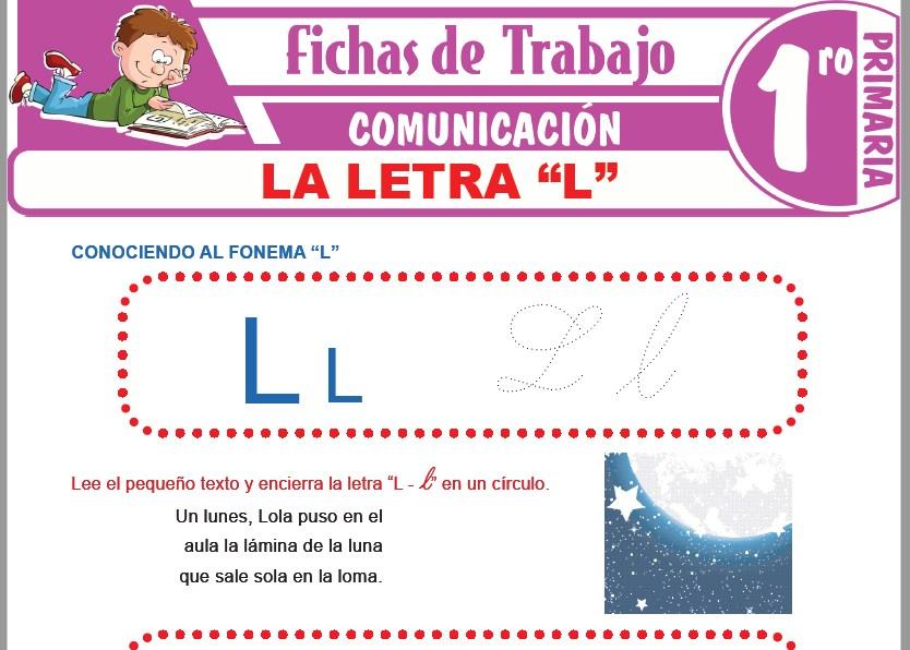 """Modelos de la Ficha de La letra """"L"""" para Primero de Primaria"""