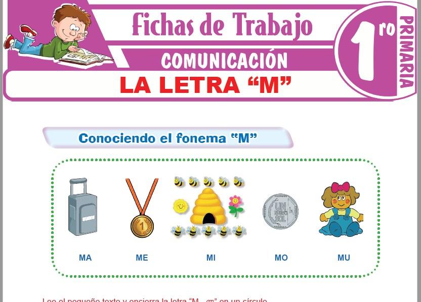 """Modelos de la Ficha de La letra """"M"""" para Primero de Primaria"""