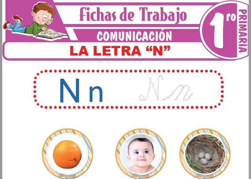"""Modelos de la Ficha de La letra """"N"""" para Primero de Primaria"""