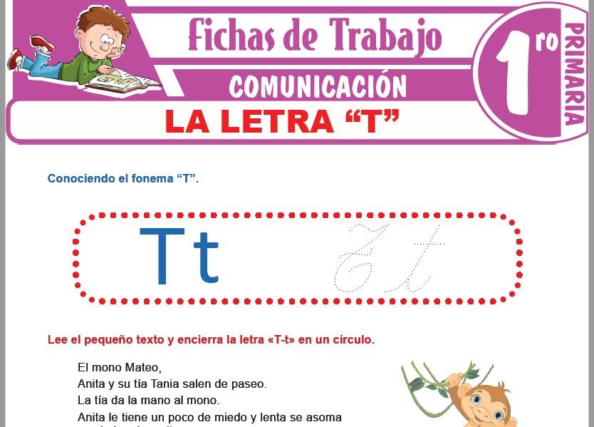 """Modelos de la Ficha de La letra """"T"""" para Primero de Primaria"""