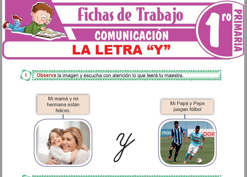 """Modelos de la Ficha de La letra """"Y"""" para Primero de Primaria"""