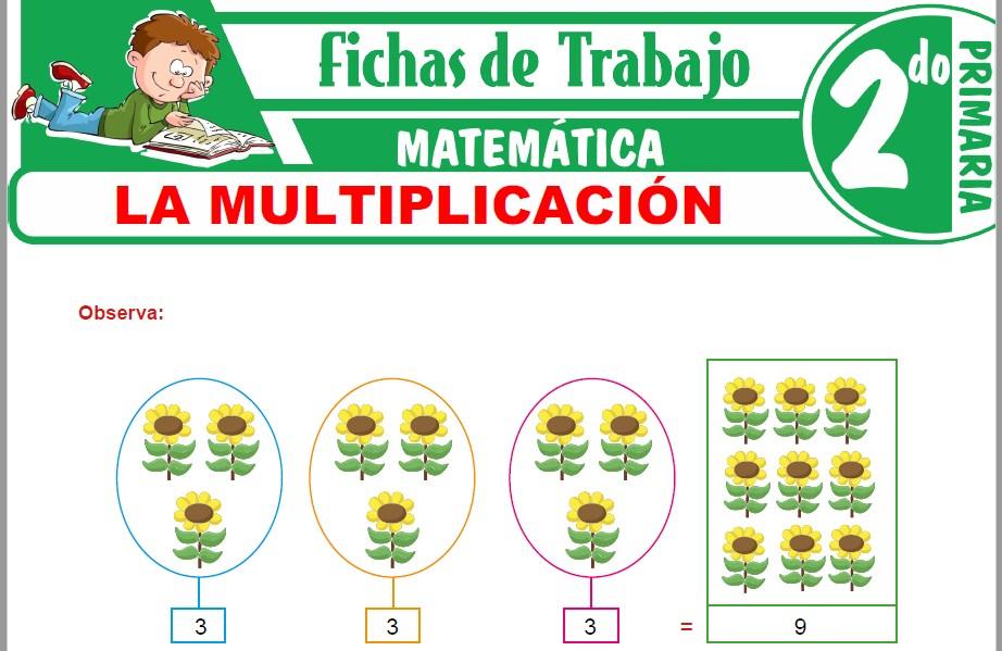 Modelos de la Ficha de La multiplicación para Segundo de Primaria