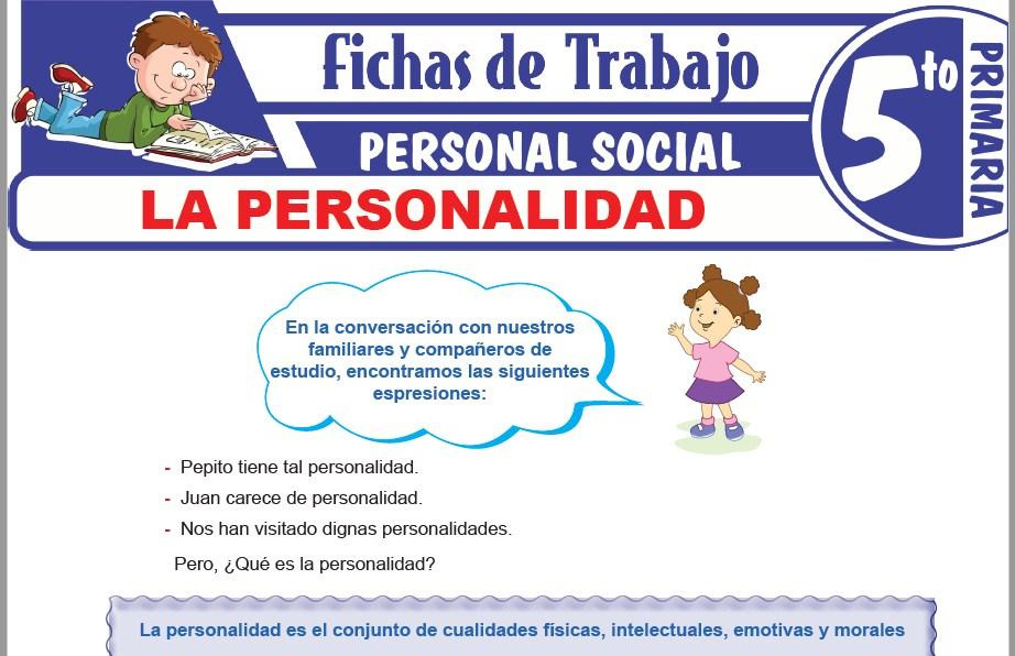 Modelos de la Ficha de La personalidad para Quinto de Primaria