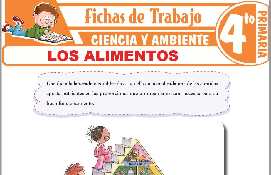 Modelos de la Ficha de La pirámide de los alimentos para Cuarto de Primaria