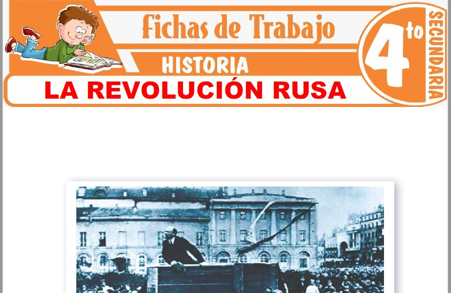 Modelos de la Ficha de La revolución Rusa para Cuarto de Secundaria