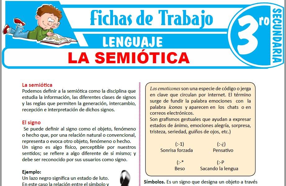 Modelos de la Ficha de La semiótica para Tercero de Secundaria