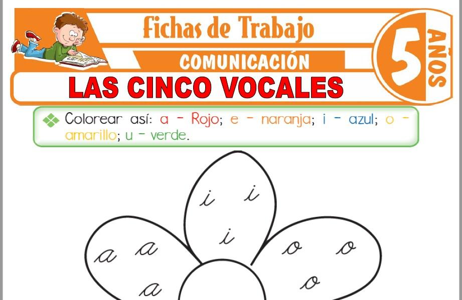 Modelos de la Ficha de Las cinco vocales para Niños de Cinco Años