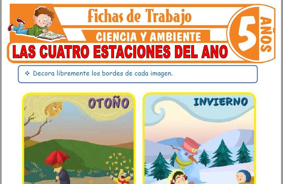 Modelos de la Ficha de Las cuatro estaciones del año para Niños de Cinco Años