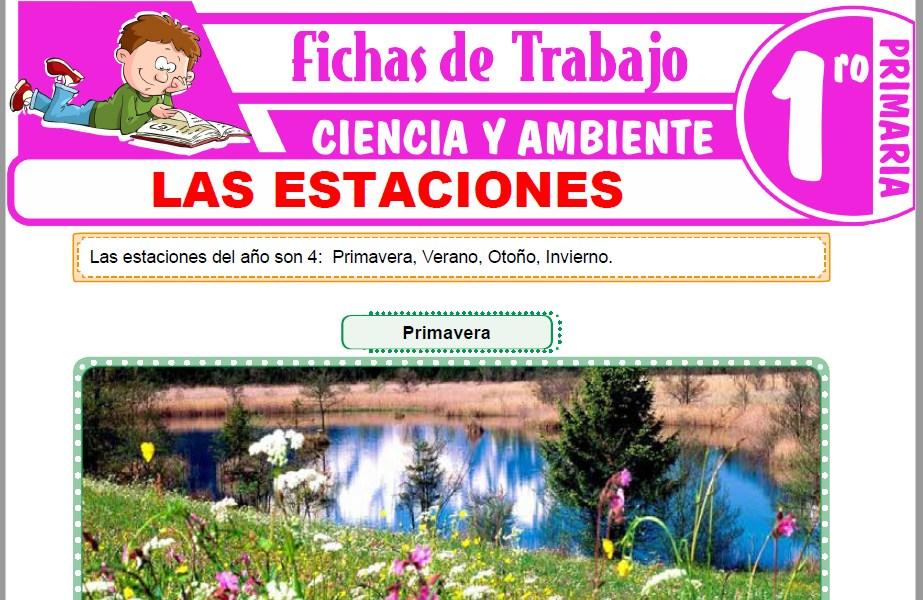 Modelos de la Ficha de Las estaciones para Primero de Primaria