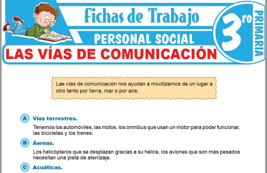 Modelos de la Ficha de Las vías de comunicación para Tercero de Primaria