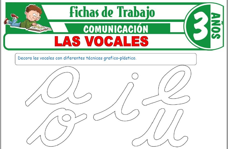 Modelos de la Ficha de Las vocales para Niños de Tres Años