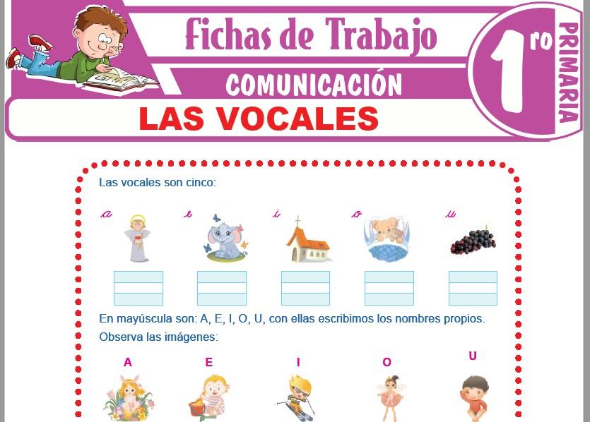 Modelos de la Ficha de Las vocales para Primero de Primaria