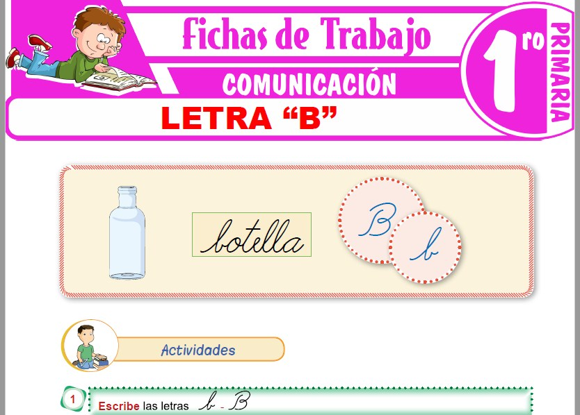 """Modelos de la Ficha de Letra """"B"""" para Primero de Primaria"""