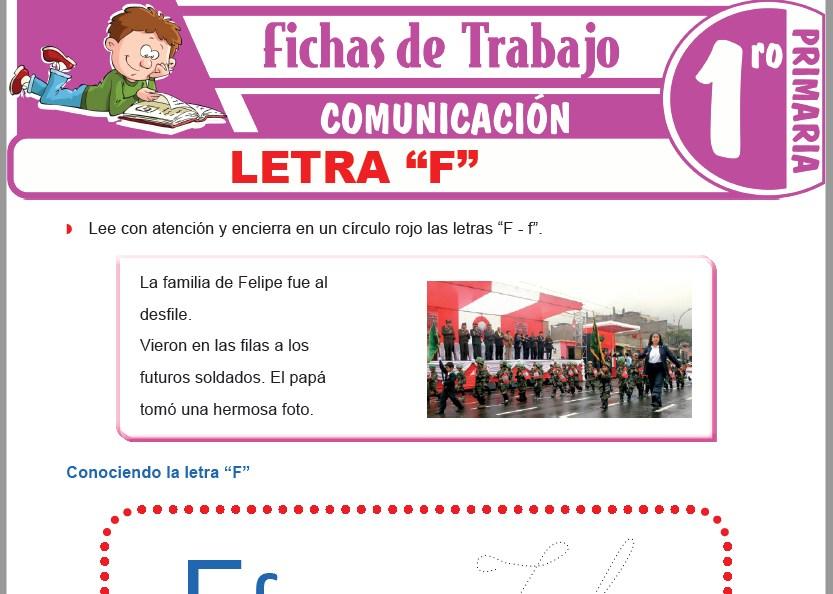 """Modelos de la Ficha de Letra """"F"""" para Primero de Primaria"""