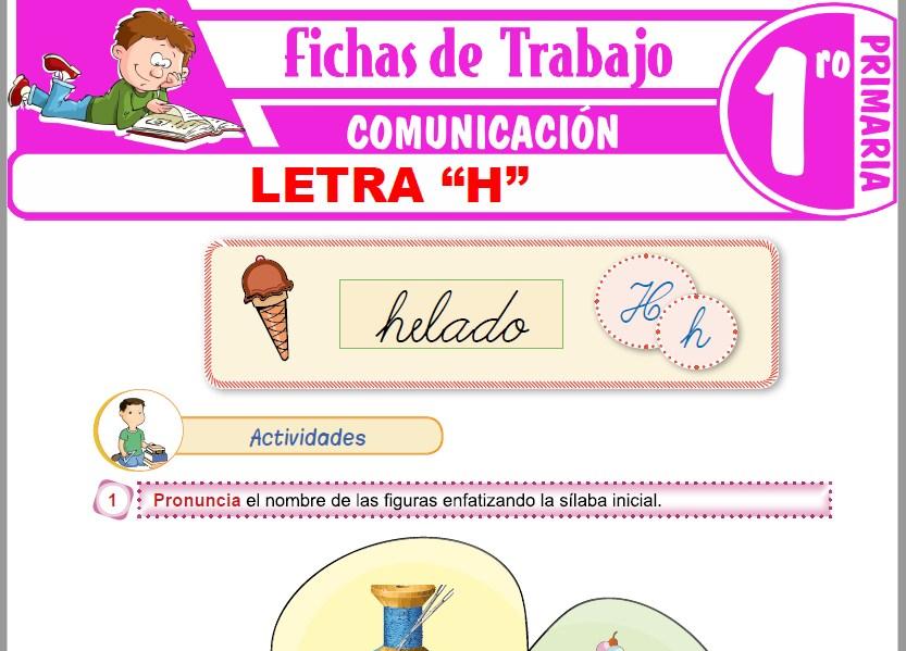"""Modelos de la Ficha de Letra """"H"""" para Primero de Primaria"""
