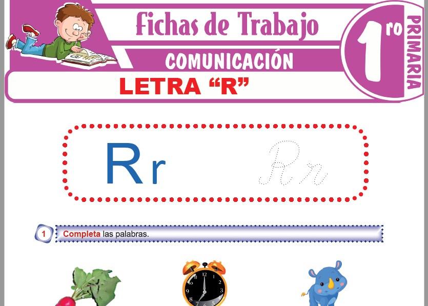 """Modelos de la Ficha de Letra """"R"""" para Primero de Primaria"""