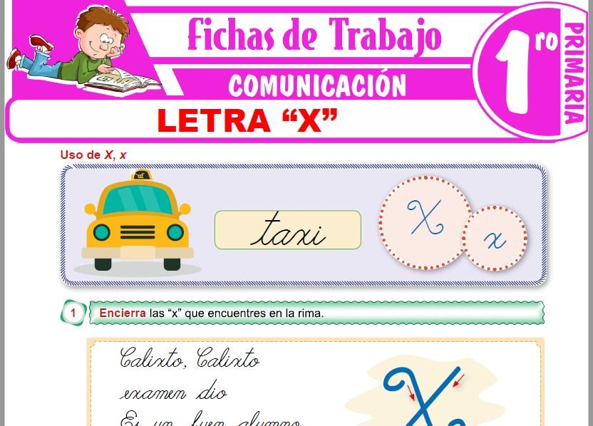 """Modelos de la Ficha de Letra """"X"""" para Primero de Primaria"""