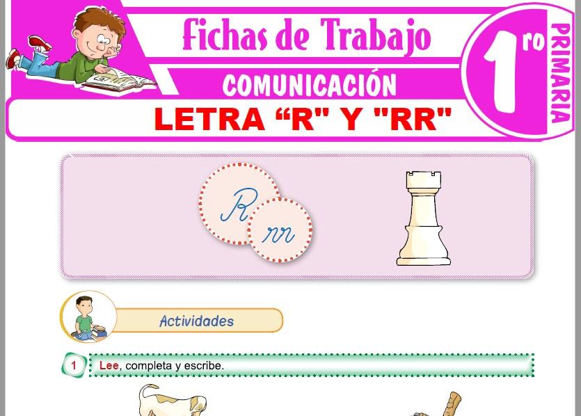 """Modelos de la Ficha de Letra """"R"""" y """"RR"""" para Primero de Primaria"""