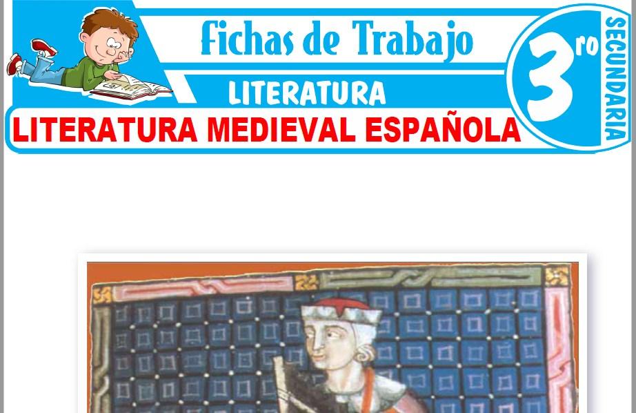 Modelos de la Ficha de Literatura Medieval Española para Tercero de Secundaria
