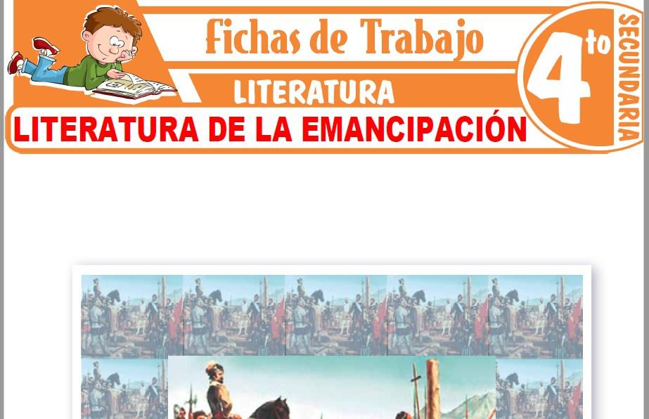 Modelos de la Ficha de Literatura de la Emancipación para Cuarto de Secundaria