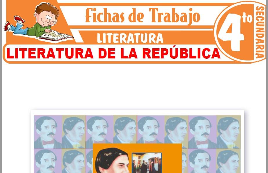 Modelos de la Ficha de Literatura de la República para Cuarto de Secundaria
