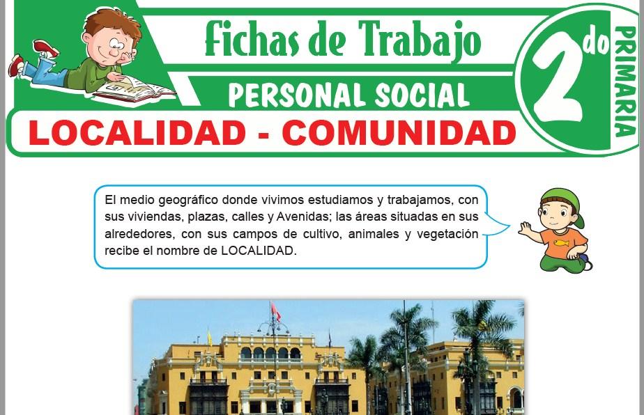 Modelos de la Ficha de Localidad - Comunidad para Segundo de Primaria