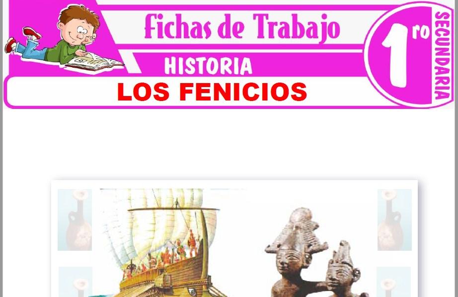 Modelos de la Ficha de Los Fenicios para Primero de Secundaria