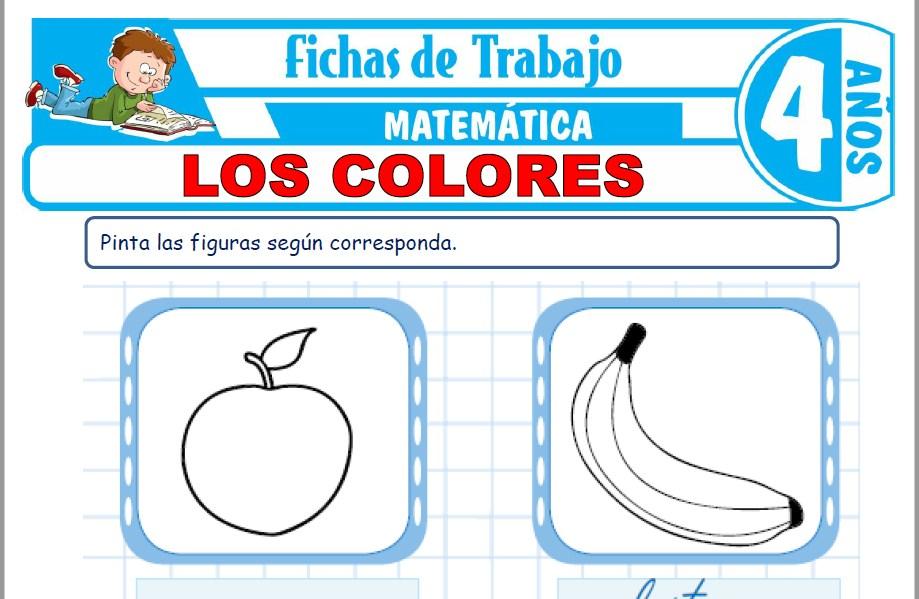 Modelos de la Ficha de Los colores para Niños de Cuatro Años