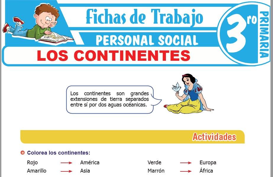 Modelos de la Ficha de Los continentes para Tercero de Primaria