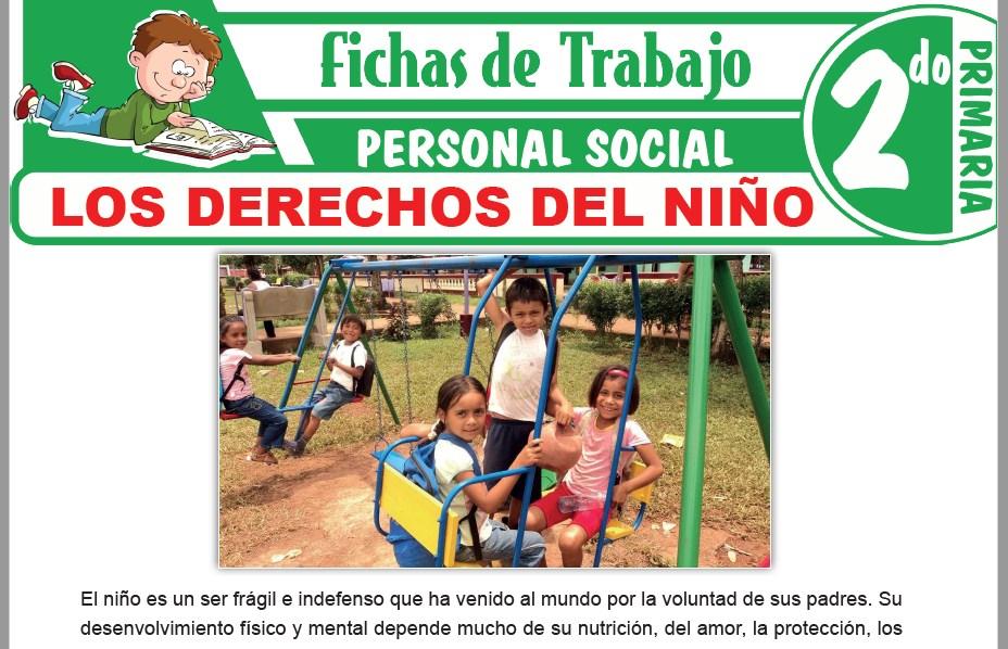Modelos de la Ficha de Los derechos del niño para Segundo de Primaria
